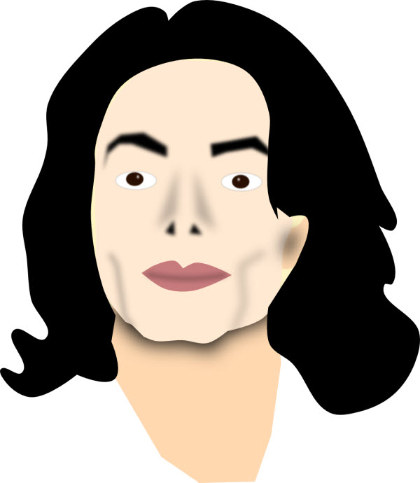 Michael jacksons face