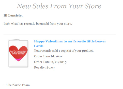 First sale on Zazzle